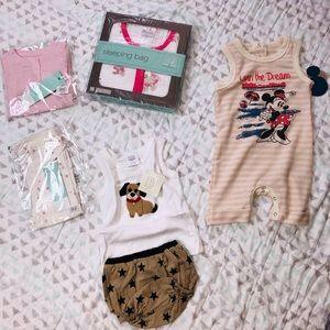 Bundle sleeper bag, outfit , jumper